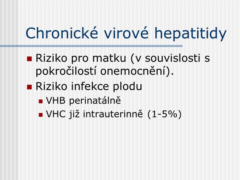 Chronické virové hepatitidy