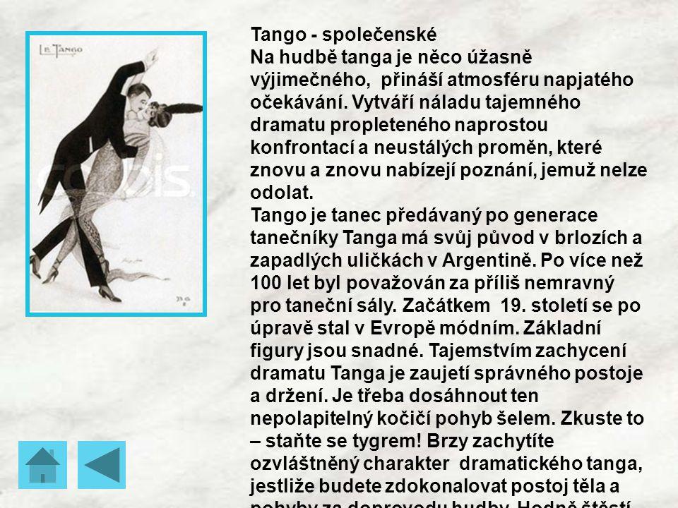 Tango - společenské