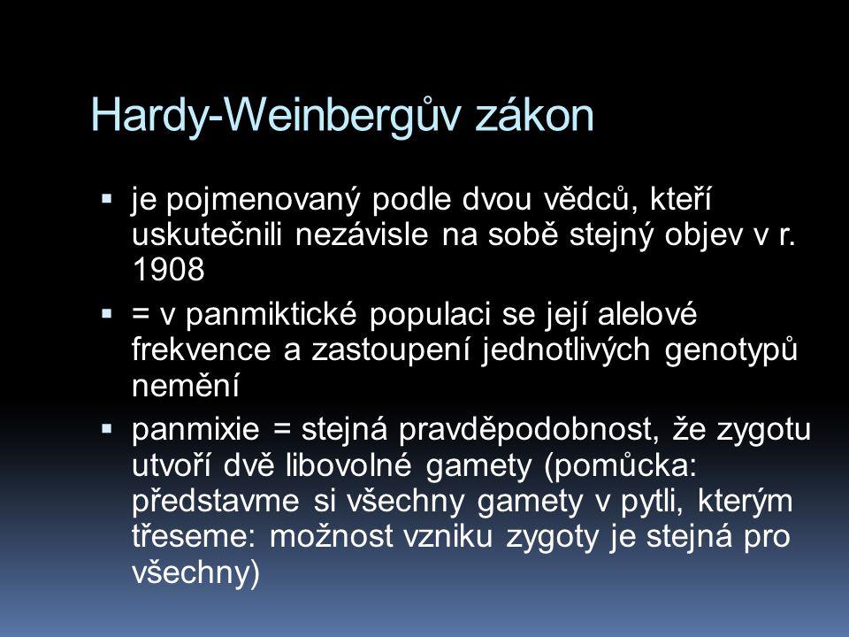 Hardy-Weinbergův zákon