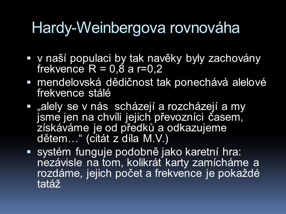 Hardy-Weinbergova rovnováha