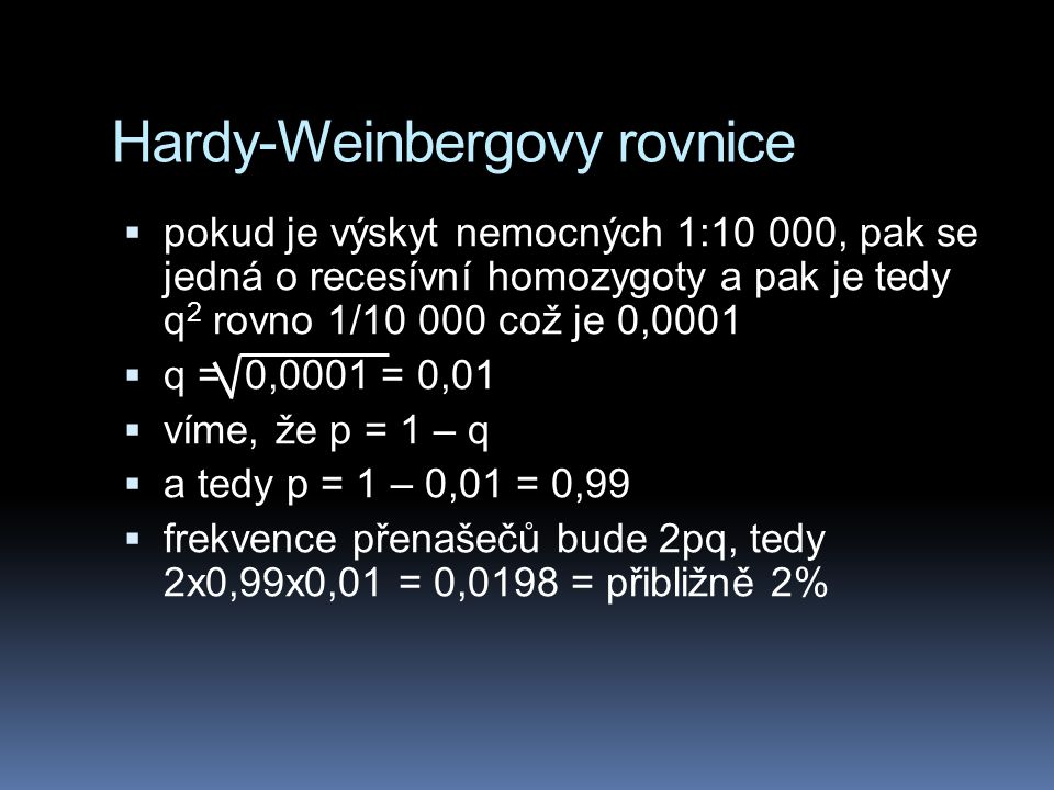 Hardy-Weinbergovy rovnice