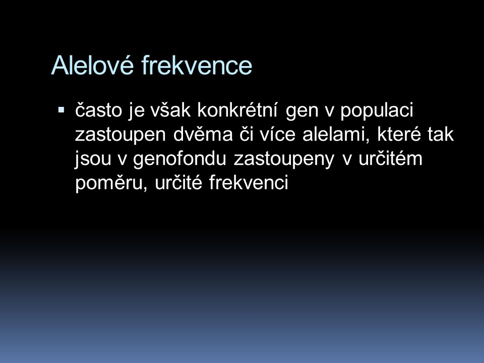 Alelové frekvence