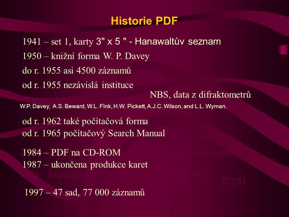 Historie PDF 1941 – set 1, karty 3 x 5 - Hanawaltův seznam
