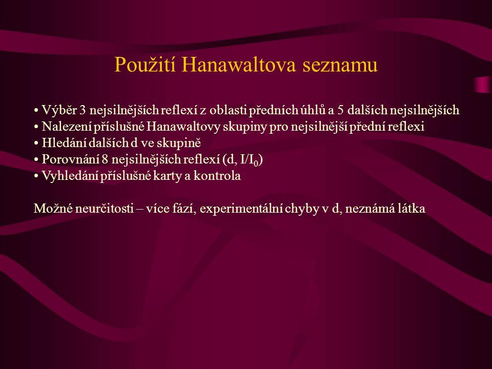 Použití Hanawaltova seznamu