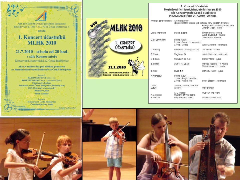 1. Koncert účastníků Mezinárodních letních hudebních kurzů 2010