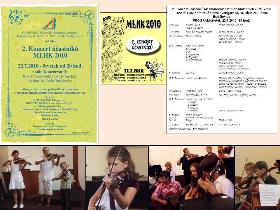 2. Koncert účastníků Mezinárodních letních hudebních kurzů 2010