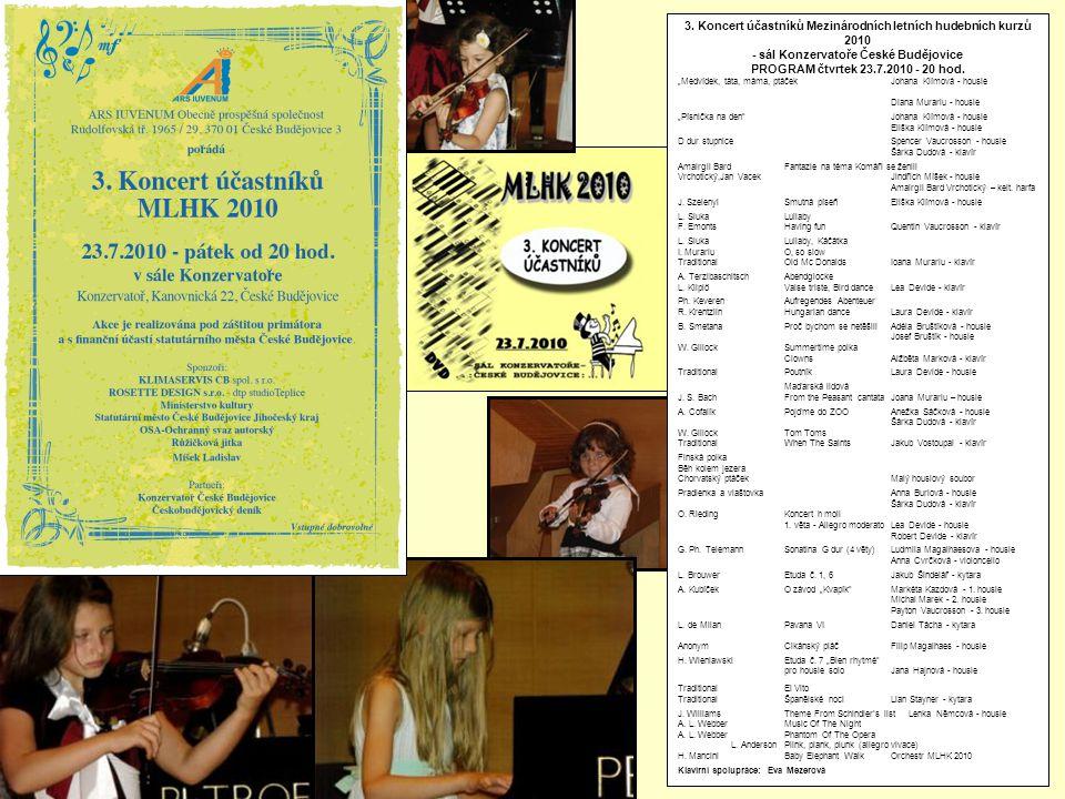 3. Koncert účastníků Mezinárodních letních hudebních kurzů 2010