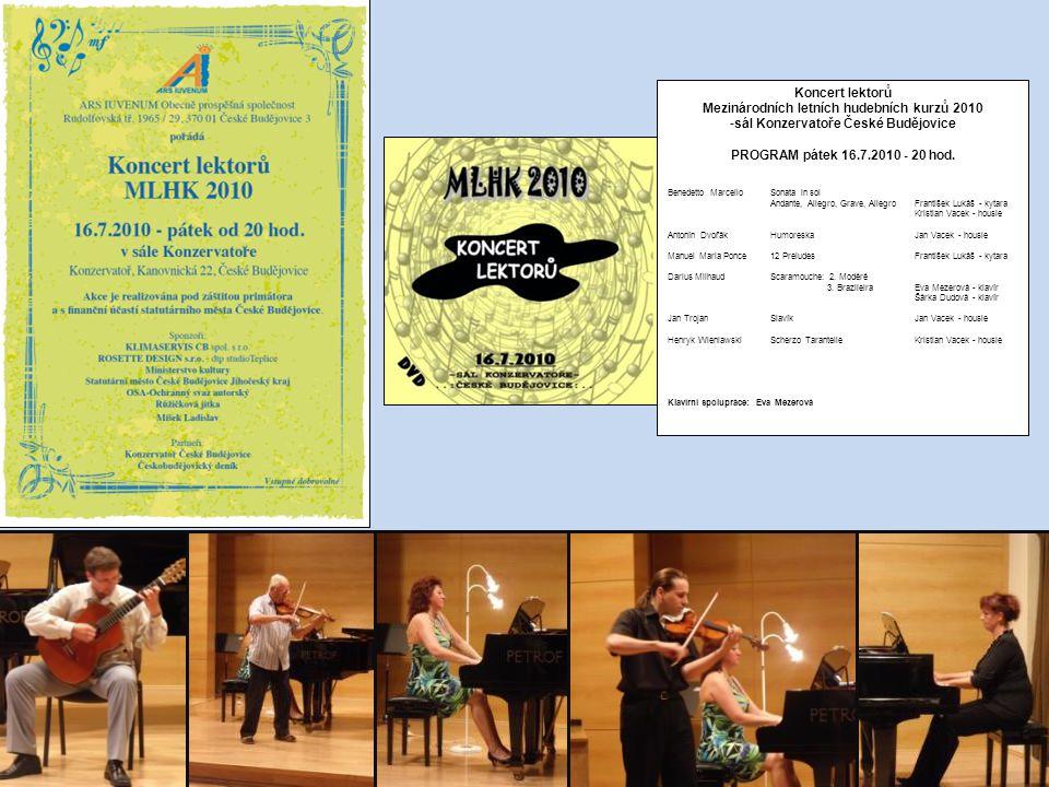 Mezinárodních letních hudebních kurzů 2010