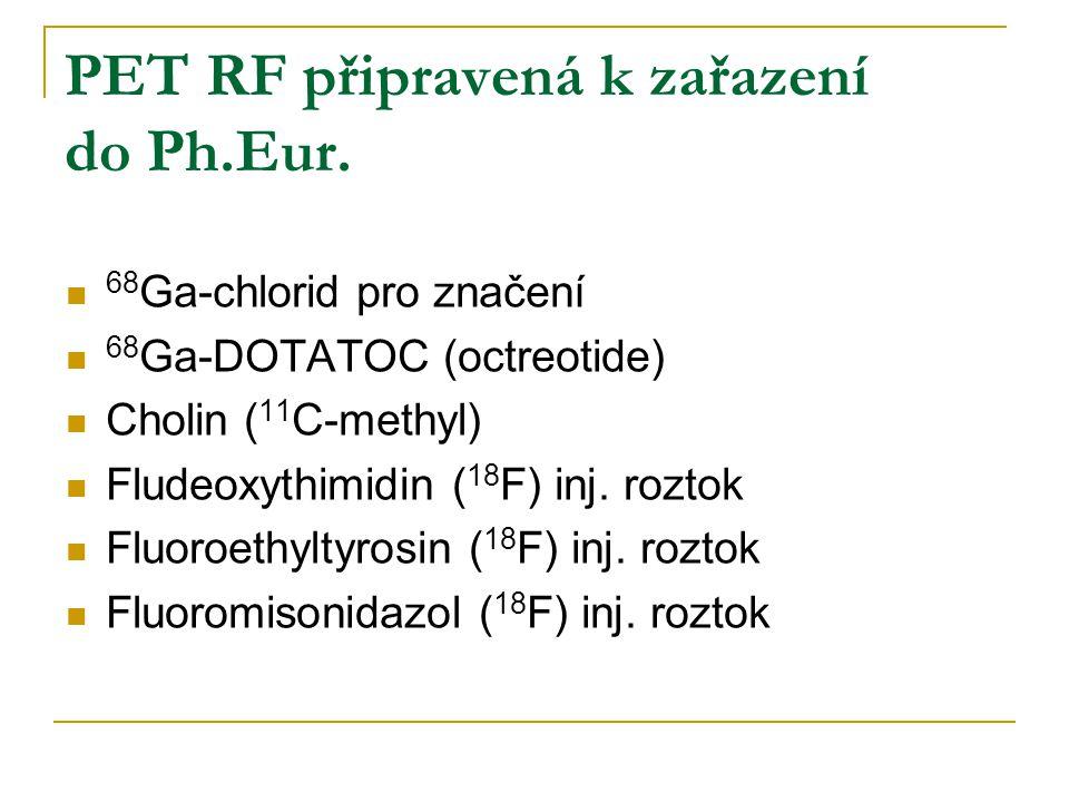 PET RF připravená k zařazení do Ph.Eur.