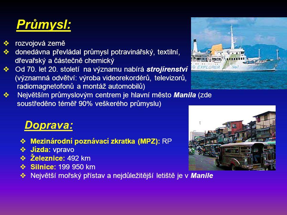 Průmysl: Doprava: rozvojová země