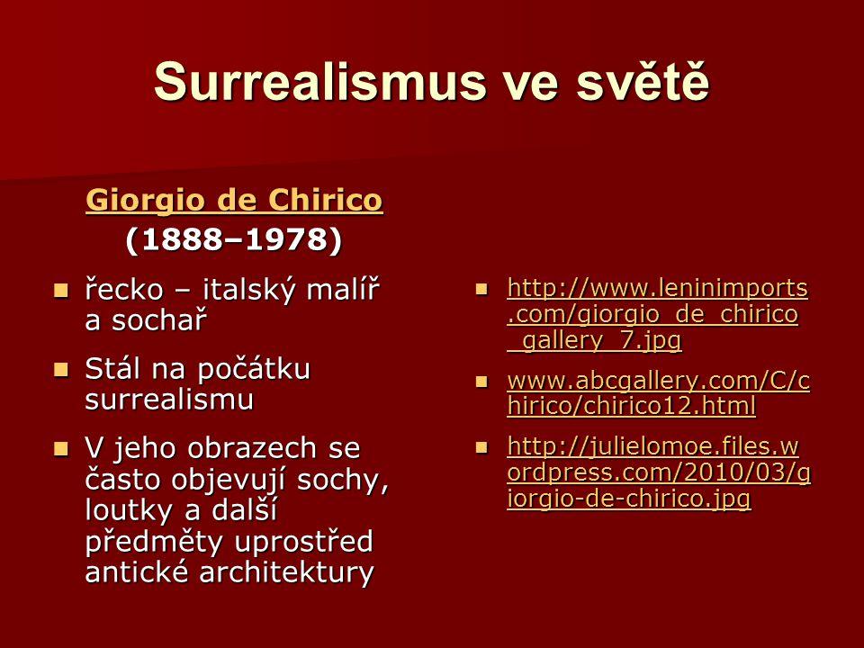Surrealismus ve světě Giorgio de Chirico (1888–1978)