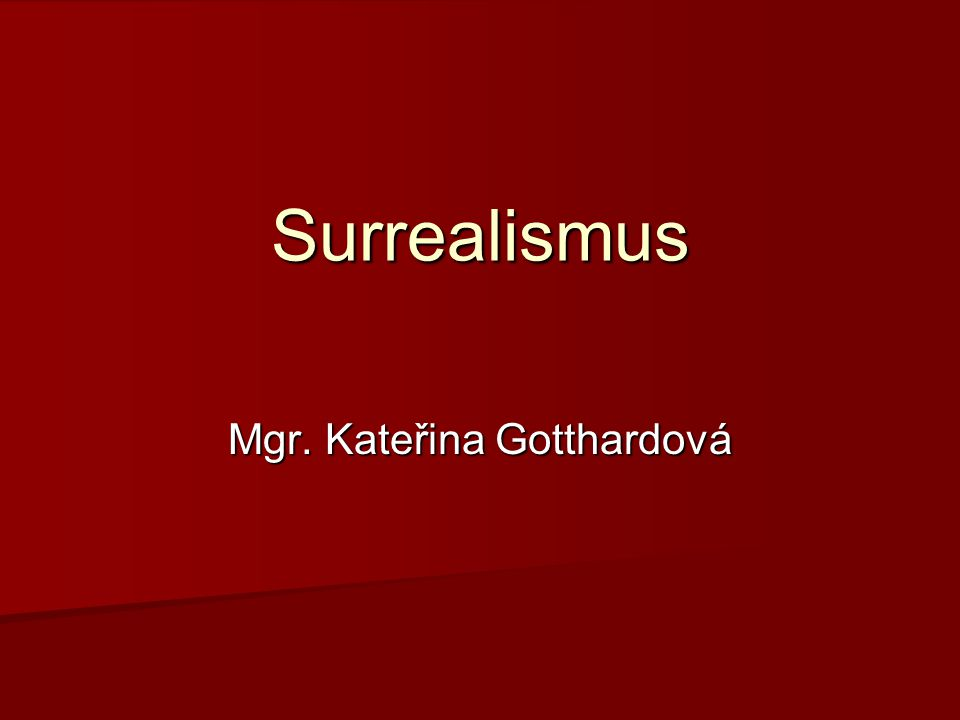 Mgr. Kateřina Gotthardová
