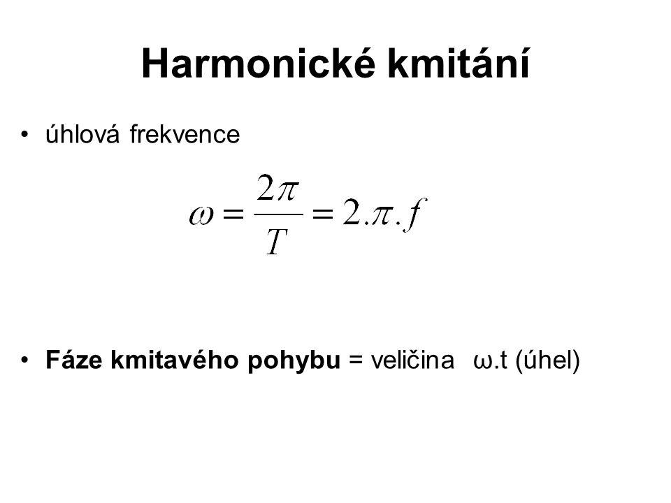 Harmonické kmitání úhlová frekvence