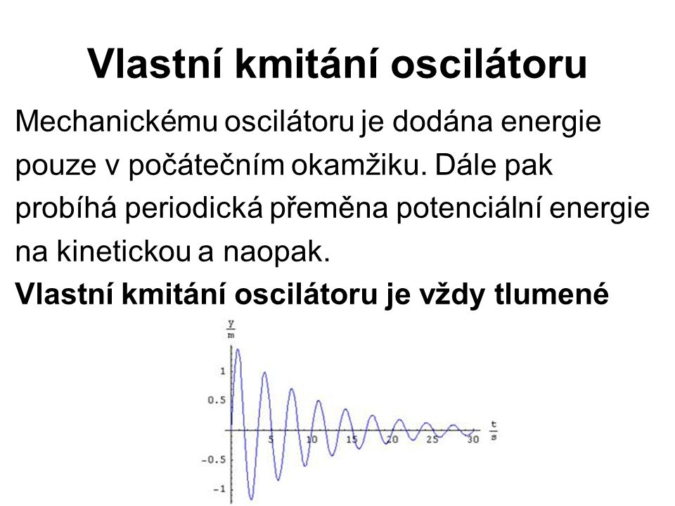 Vlastní kmitání oscilátoru