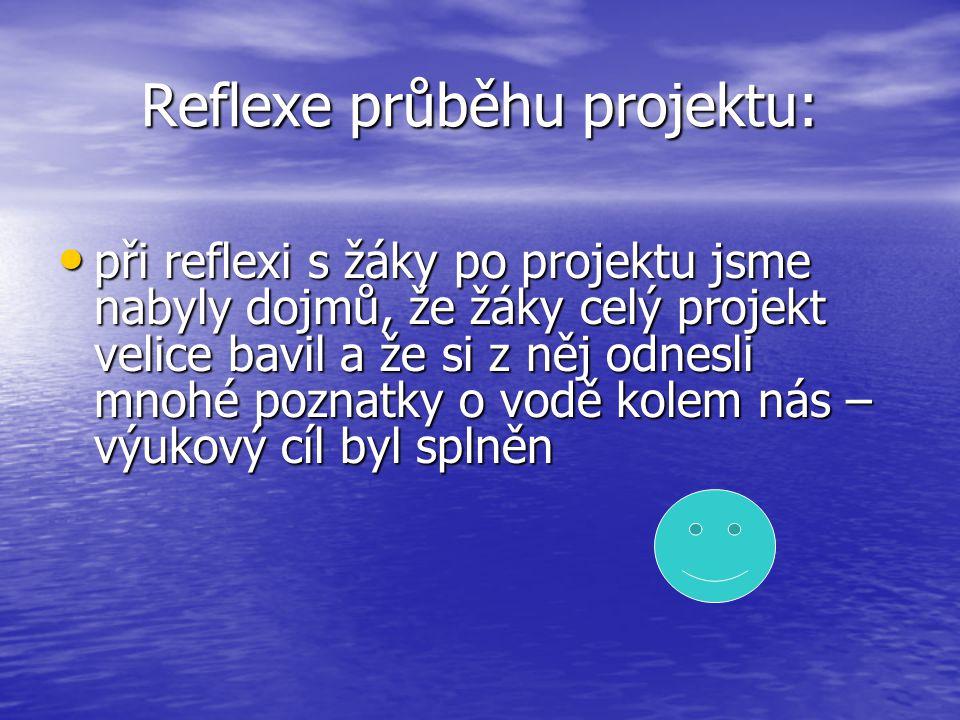Reflexe průběhu projektu: