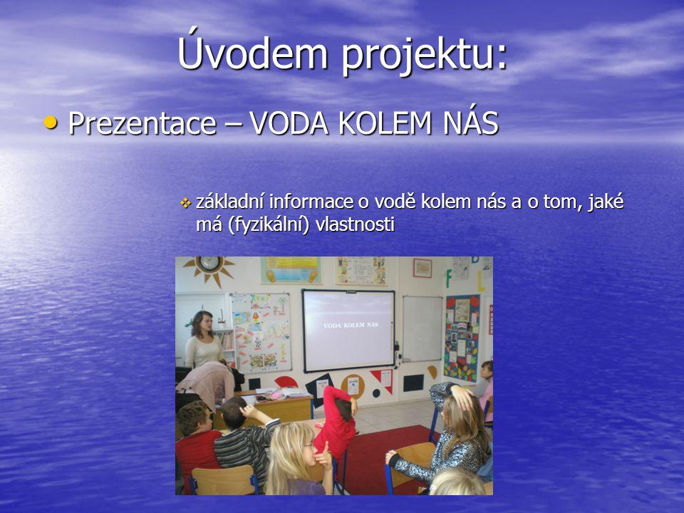 Úvodem projektu: Prezentace – VODA KOLEM NÁS