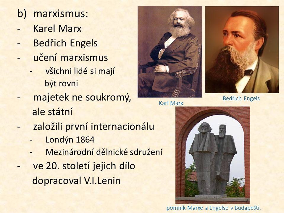 pomník Marxe a Engelse v Budapešti.