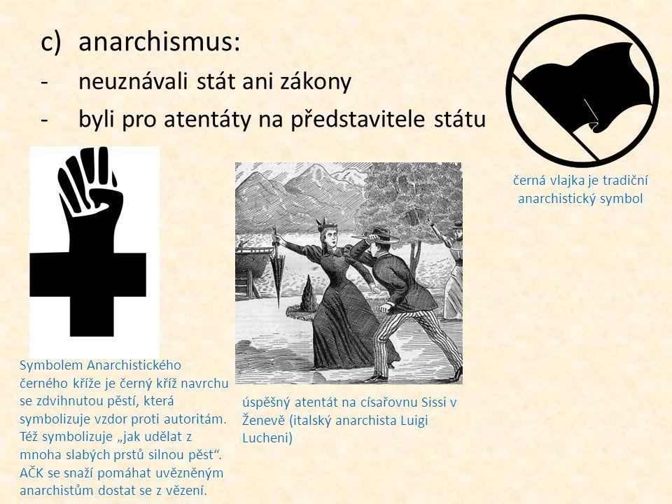černá vlajka je tradiční anarchistický symbol