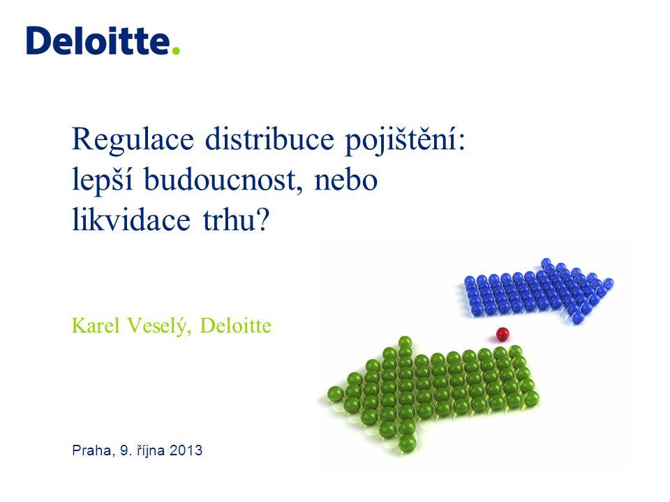 Regulace distribuce pojištění: lepší budoucnost, nebo likvidace trhu