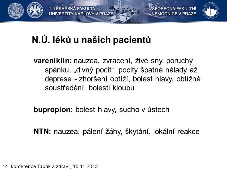 N.Ú. léků u našich pacientů