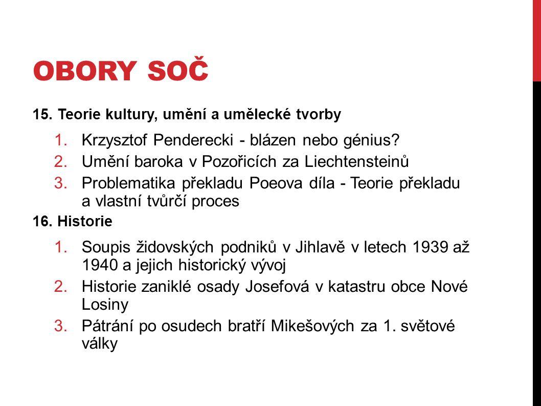 Obory SOČ Krzysztof Penderecki - blázen nebo génius