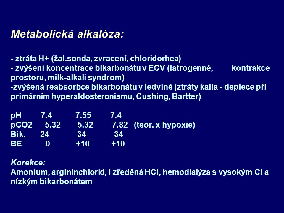 Metabolická alkalóza: