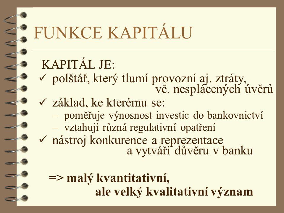 FUNKCE KAPITÁLU KAPITÁL JE: