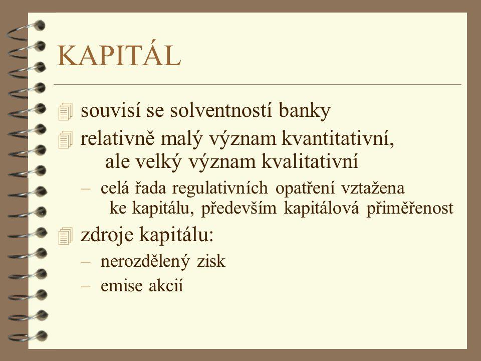 KAPITÁL souvisí se solventností banky