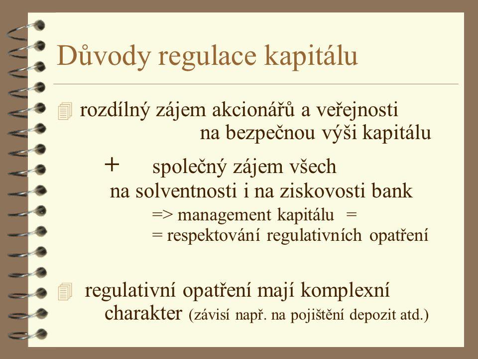 Důvody regulace kapitálu