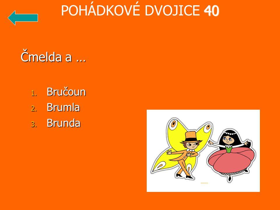 POHÁDKOVÉ DVOJICE 40 Čmelda a … Bručoun Brumla Brunda