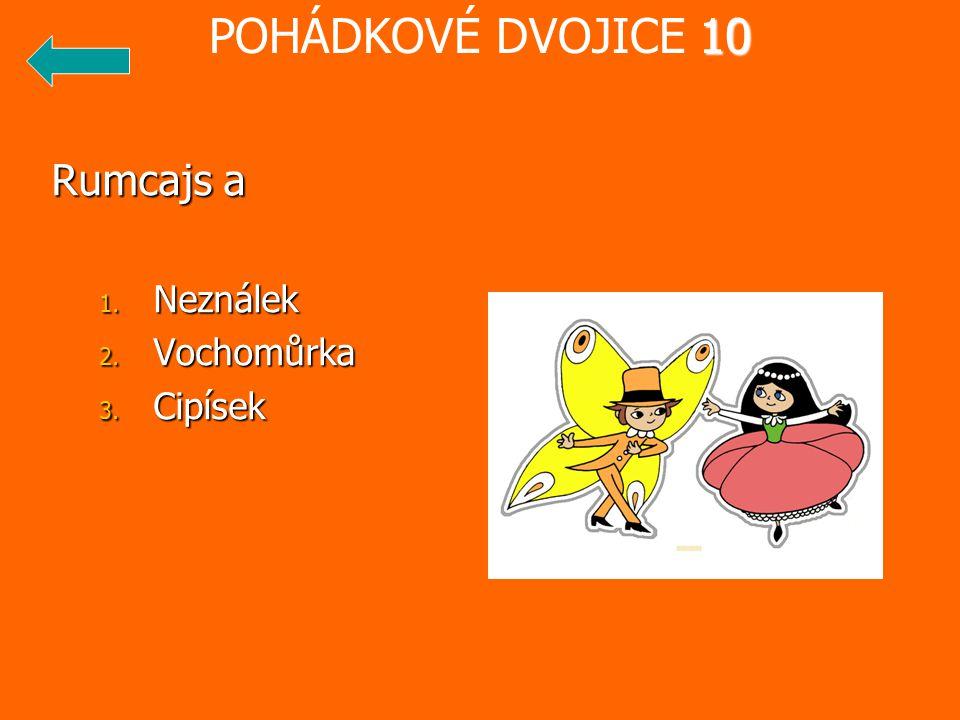 POHÁDKOVÉ DVOJICE 10 Rumcajs a Neználek Vochomůrka Cipísek