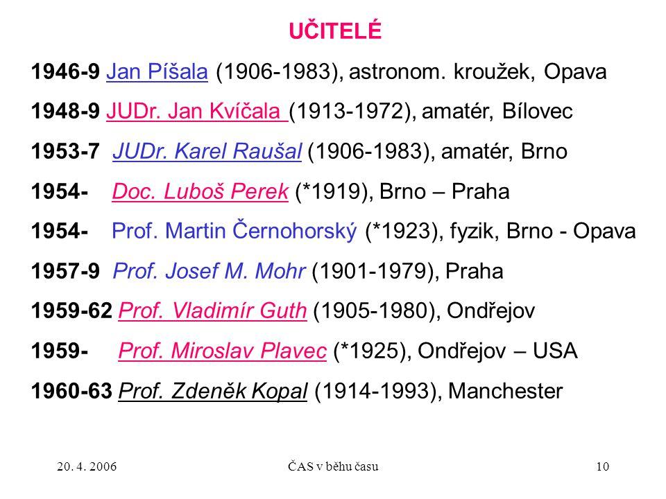 1946-9 Jan Píšala (1906-1983), astronom. kroužek, Opava