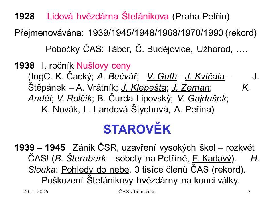 STAROVĚK 1928 Lidová hvězdárna Štefánikova (Praha-Petřín)