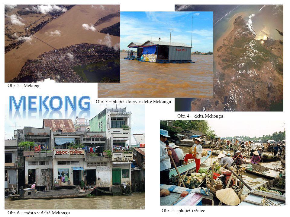 mekong Obr. 2 - Mekong Obr. 3 – plující domy v deltě Mekongu