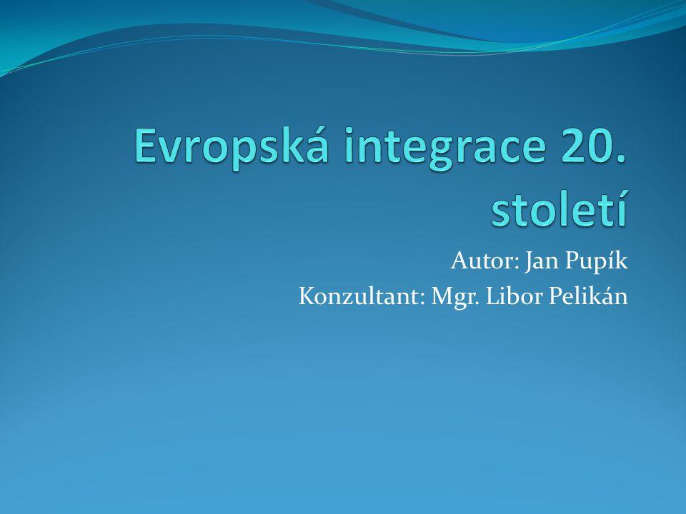Evropská integrace 20. století
