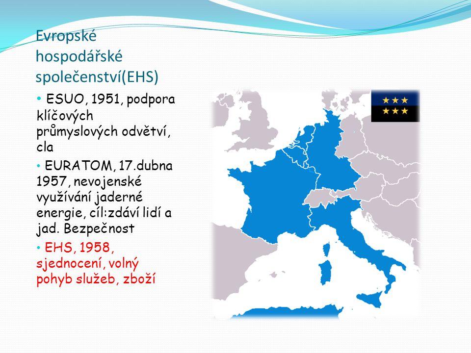 Evropské hospodářské společenství(EHS)