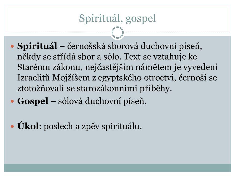 Spirituál, gospel