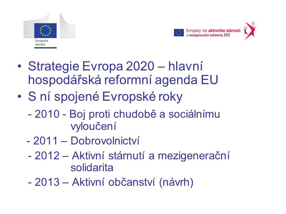 Strategie Evropa 2020 – hlavní hospodářská reformní agenda EU