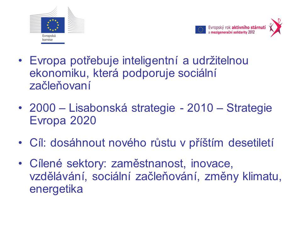 Evropa potřebuje inteligentní a udržitelnou ekonomiku, která podporuje sociální začleňovaní