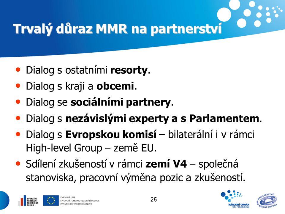 Trvalý důraz MMR na partnerství