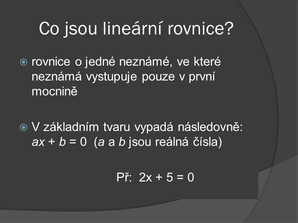 Co jsou lineární rovnice