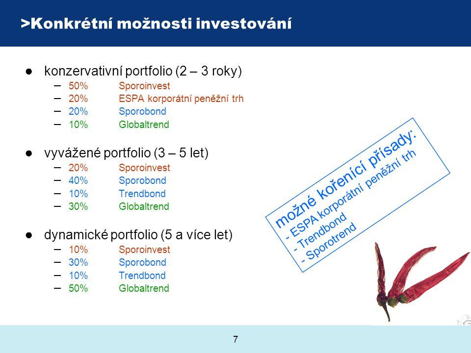 Konkrétní možnosti investování