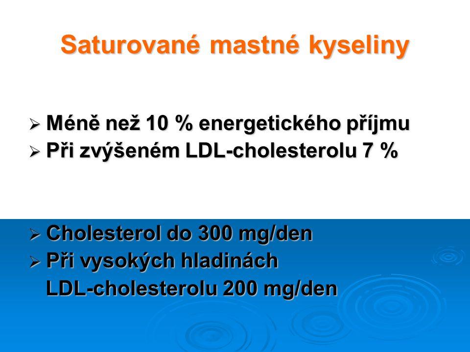 Saturované mastné kyseliny