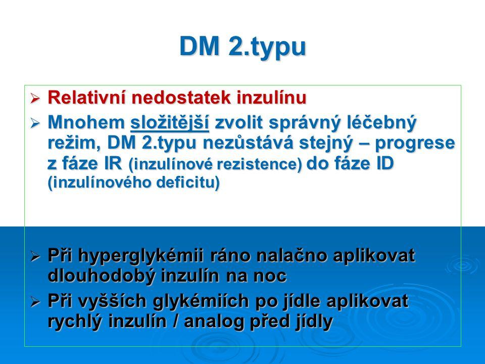 DM 2.typu Relativní nedostatek inzulínu
