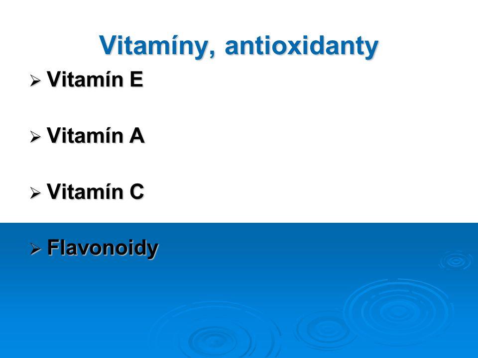 Vitamíny, antioxidanty