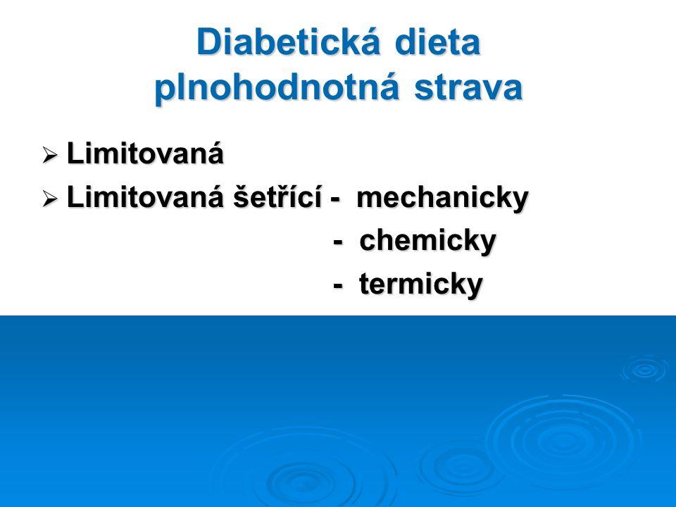 Diabetická dieta plnohodnotná strava