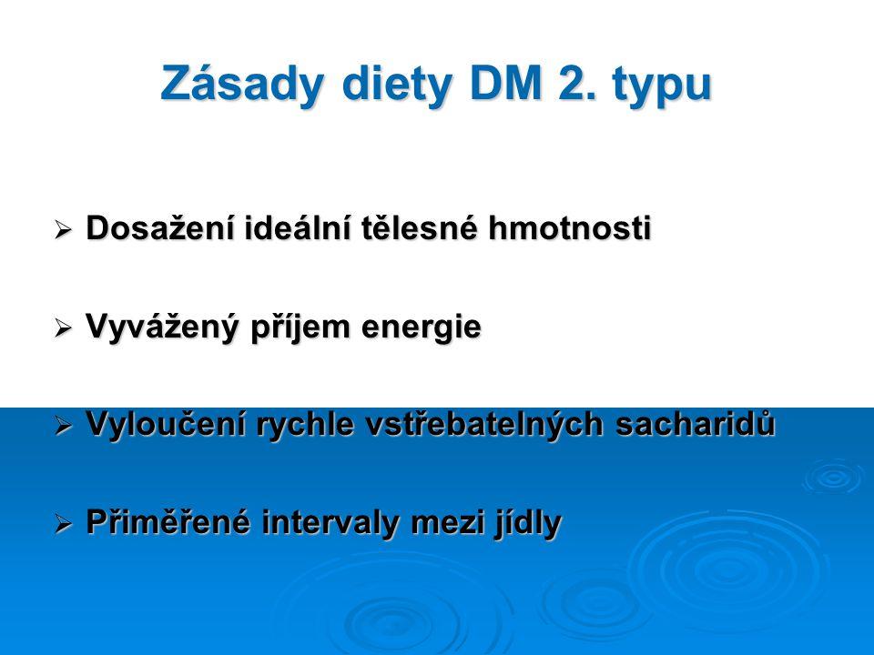 Zásady diety DM 2. typu Dosažení ideální tělesné hmotnosti