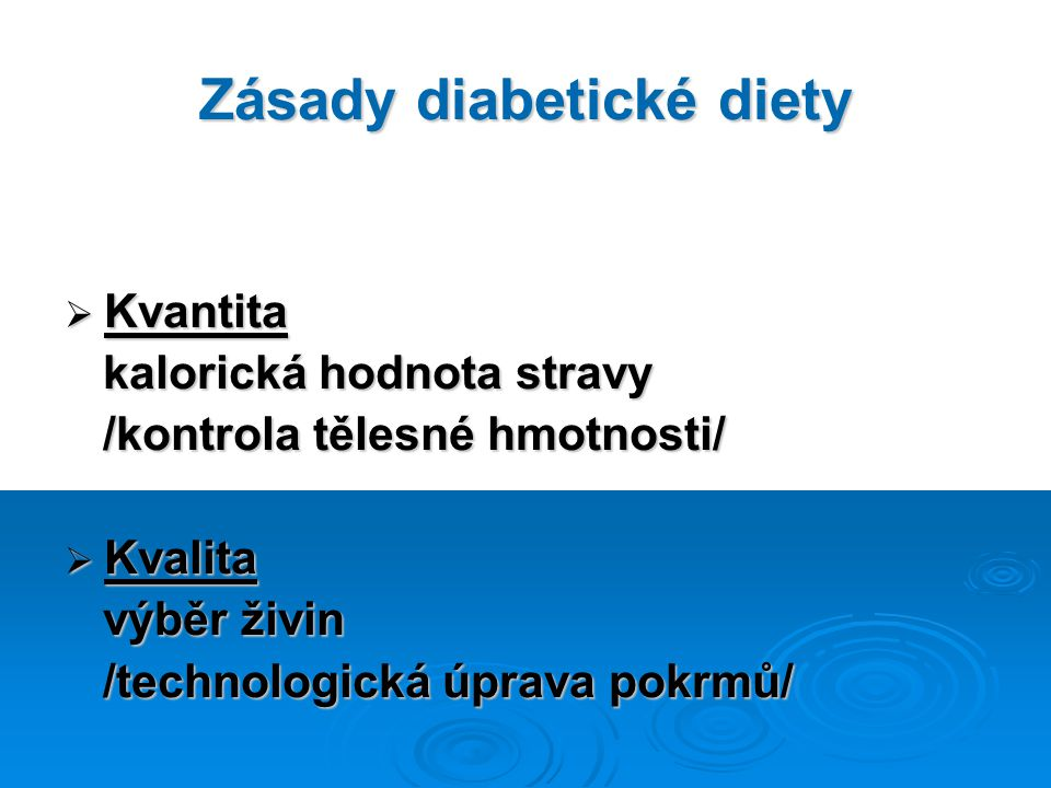 Zásady diabetické diety