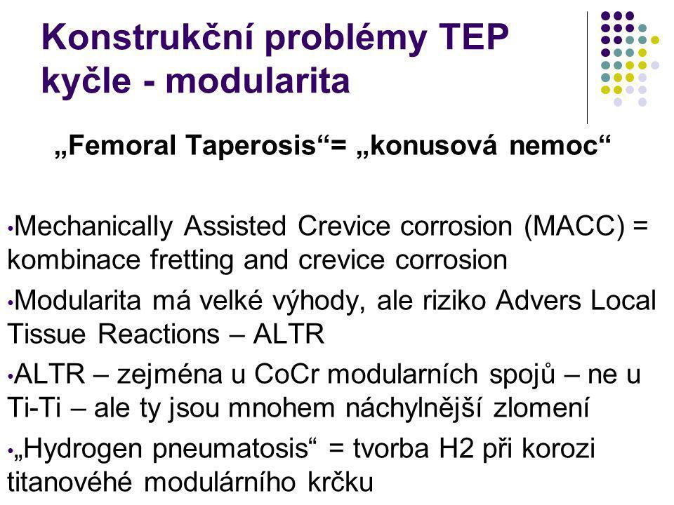Konstrukční problémy TEP kyčle - modularita