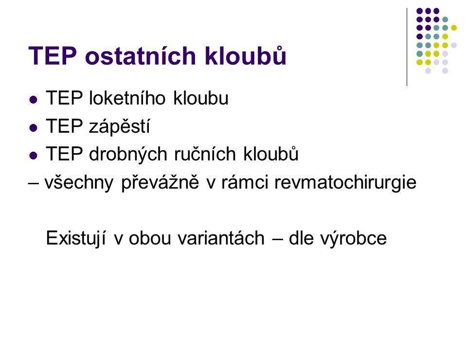 TEP ostatních kloubů TEP loketního kloubu TEP zápěstí